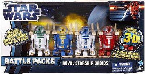 Star Wars The Phantom Menace Battle Packs 2012 Royal Starship Droids Exclusive Action Figure Set [R2-R9, R2-N3, R2-B1 & R2-D2]