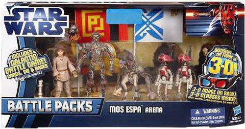 Star Wars The Phantom Menace Battle Packs 2012 Mos Espa Arena Exclusive Action Figure Set