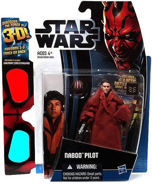 Star Wars The Phantom Menace Discover the Force 2012 Naboo Pilot Exclusive Action Figure
