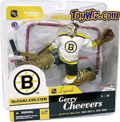 McFarlane Toys NHL Boston Bruins Sports Picks Legends Series 1 Gerry Cheevers Action Figure [White Jersey Variant]