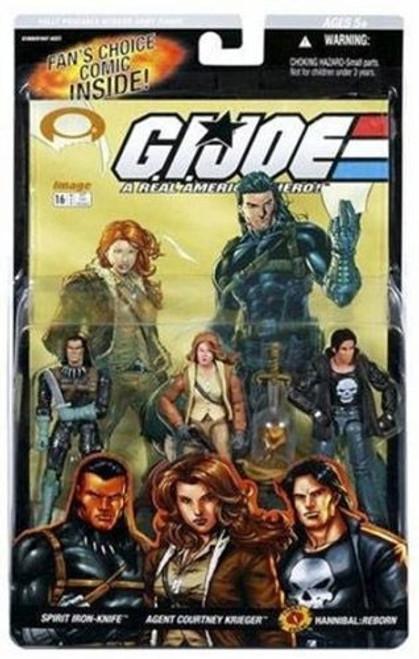 GI Joe Series 3 Spirit Iron-Knife, Agent Courtney Krieger & Hannibal: Reborn Action Figure 3-Pack