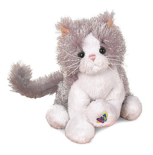 Webkinz Lil' Kinz Gray & White Cat Plush