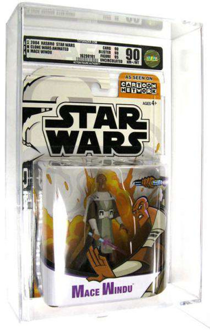 Star Wars The Clone Wars Clone Wars Cartoon Network Mace Windu Action Figure [AFA 90] [AFA Graded 90]