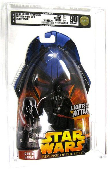 Star Wars Revenge of the Sith 2005 Darth Vader Action Figure [AFA 90] [AFA Graded 90]