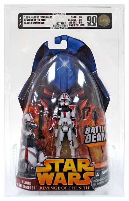 Star Wars Revenge of the Sith 2005 Clone Commander Action Figure [AFA 90] [AFA Graded 90]