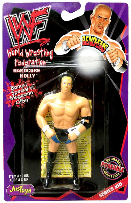 WWE Wrestling WWF Bend-Ems Series 13 Hardcore Holly Rubber Figure