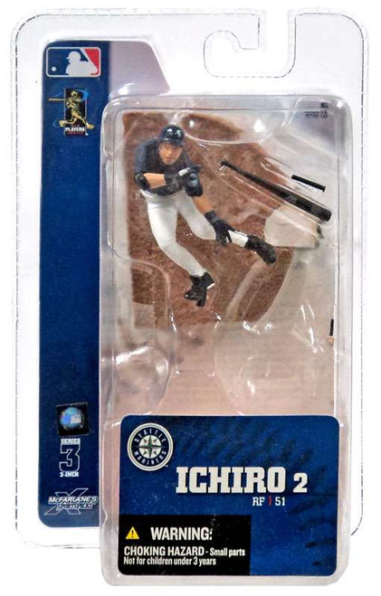 McFarlane Toys MLB Seattle Mariners Sports Picks 3 Inch Mini Series 3 Ichiro Mini Figure