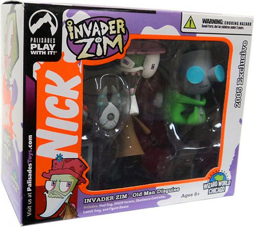Invader Zim Series 2 of Doom Old Man Disguise Zim & Doggy Gir Exclusive Action Figure 2-Pack
