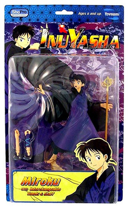 InuYasha Series 3 Miroku Action Figure [Staff & Windtunnel]