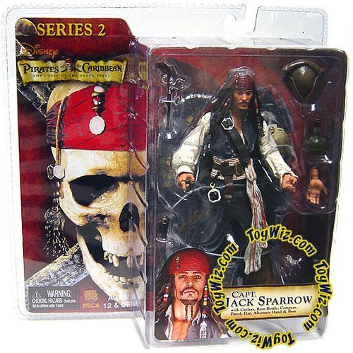 NECA Pirates of the Caribbean The Curse of the Black Pearl Series 2 Captain Jack Sparrow Action Figure