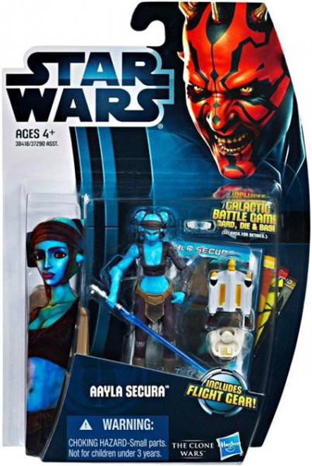Star Wars The Clone Wars Clone Wars 2012 Aayla Secura Action Figure #14