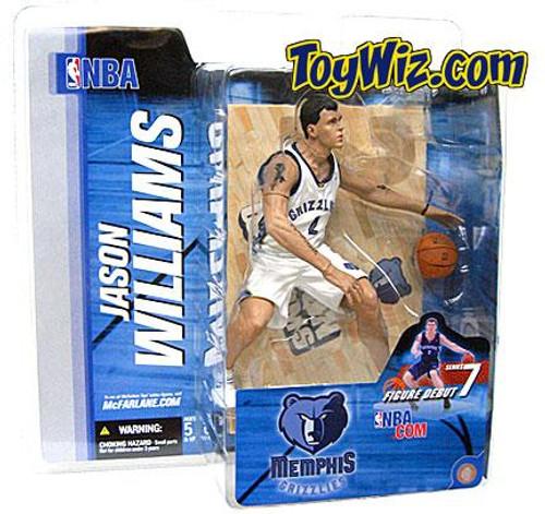 McFarlane Toys NBA Memphis Grizzlies Sports Picks Series 7 Jason Williams Action Figure [White Jersey Variant]