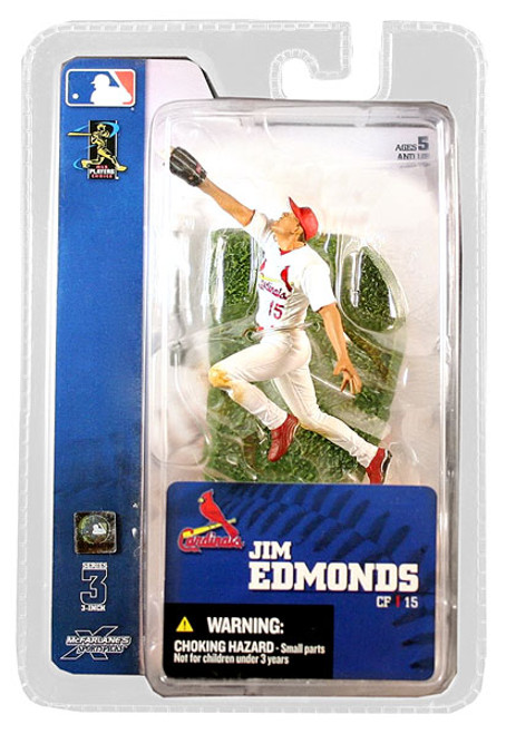 McFarlane Toys MLB St. Louis Cardinals Sports Picks 3 Inch Mini Series 3 Jim Edmonds Mini Figure