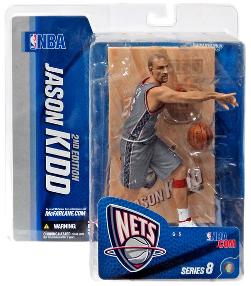 McFarlane Toys NBA New Jersey Nets Sports Picks Series 8 Jason Kidd 2 Action Figure [Gray Jersey Variant]