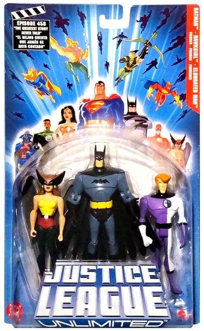 Justice League Unlimited Series 1 Batman, Hawkgirl & Elongated Man Action Figure 3-Pack