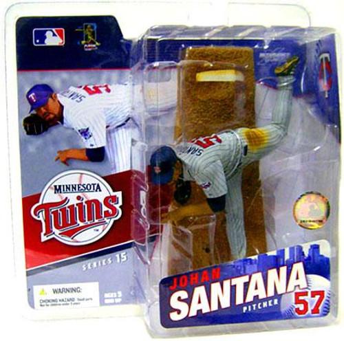 McFarlane Toys MLB Sports Picks Series 15 Johan Santana (Minnesota Twins) Action Figure [Gray Jersey Variant]