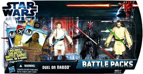 Star Wars The Phantom Menace Battle Packs 2012 Duel On Naboo Action Figure Set