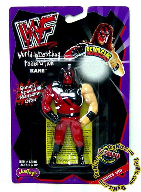 WWE Wrestling WWF Bend-Ems Series 8 Kane Rubber Figure