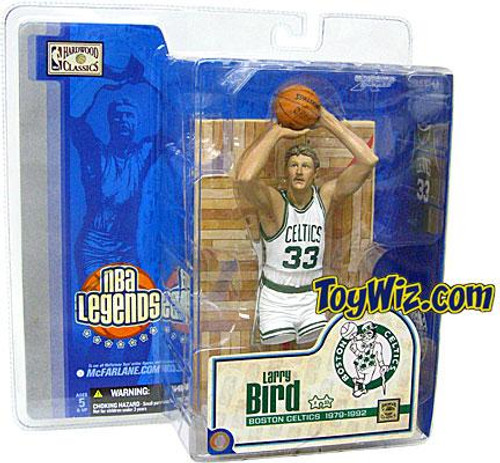 McFarlane Toys NBA Boston Celtics Sports Picks Legends Series 1 Larry Bird Action Figure [White Jersey Variant]