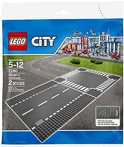 LEGO City Straight & Crossroads Plates Set #7280