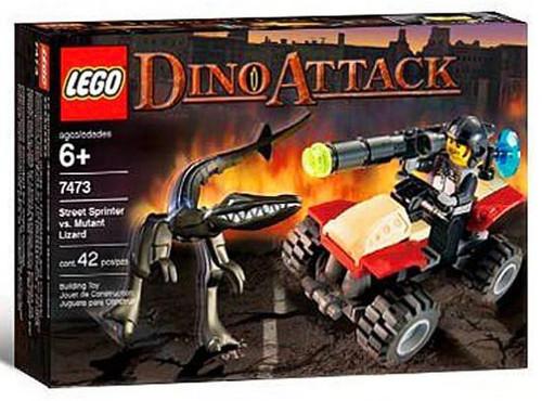 LEGO Dino Attack Street Sprinter vs. Mutant Lizard Set #7473 [Damaged Package]