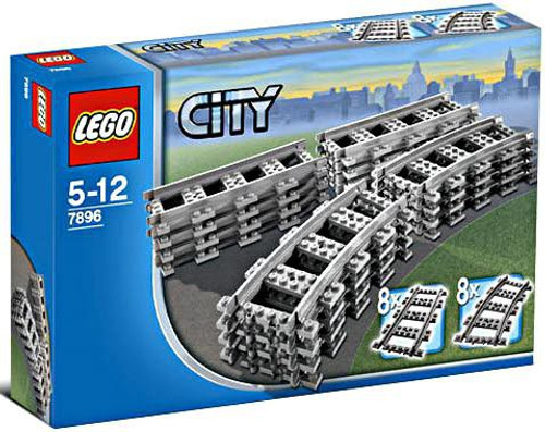 LEGO City Straight & Curved Rails Set #7896