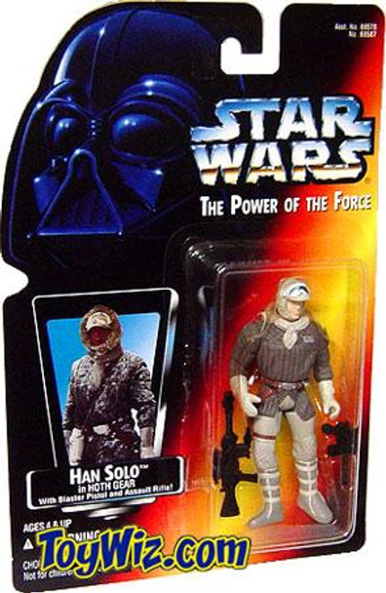 Star Wars Empire Strikes Back Power of the Force POTF2 Han Solo in Hoth Gear Action Figure