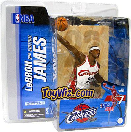 McFarlane Toys NBA Cleveland Cavaliers Sports Picks Series 7 LeBron James Action Figure [White Jersey Variant]