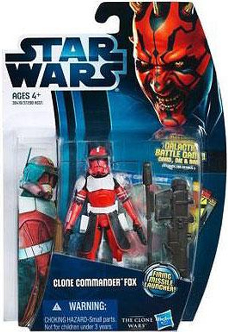 Star Wars The Clone Wars Clone Wars 2012 Clone Commander Fox Action Figure CW18