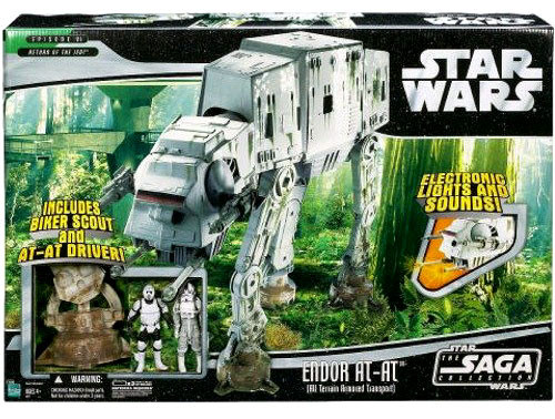 Star Wars Return of the Jedi 2006 Saga Collection Endor AT-AT Action Figure Vehicle