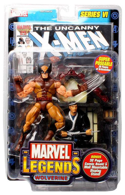Marvel Legends Series 6 Wolverine Action Figure [Brown Costume]