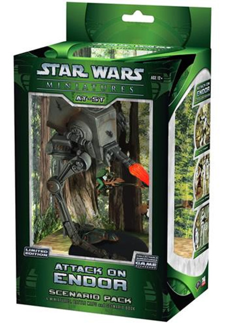 Star Wars Miniatures Universe Game Attack on Endor AT-ST Scout Walker Scenario Pack