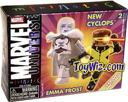 Marvel Universe Minimates Series 9 New Cyclops & Emma Frost Minifigure 2-Pack
