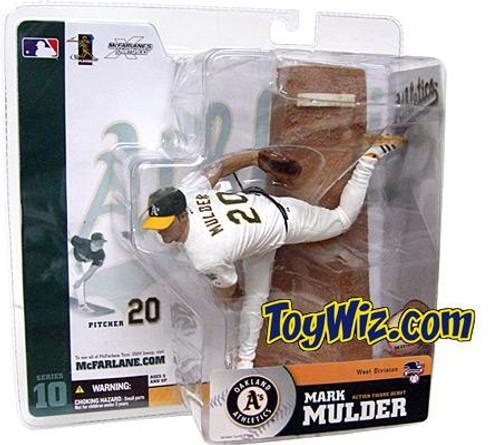 McFarlane Toys MLB Oakland A's Sports Picks Series 10 Mark Mulder Action Figure [White Jersey Variant]