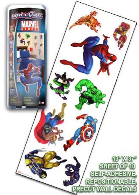 Marvel Heroes Marvel Battle Dice Wall Stars Wall Decals [10 ct]
