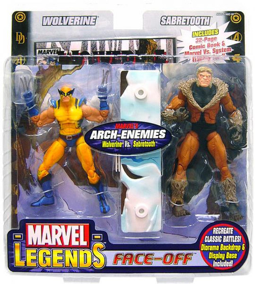 Marvel Legends Face Off Series 2 Wolverine vs. Sabretooth Action Figure 2-Pack