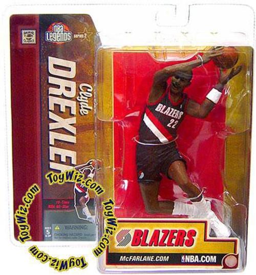 McFarlane Toys NBA Portland Trailblazers Sports Picks Legends Series 2 Clyde Drexler Action Figure [Black Jersey Variant]