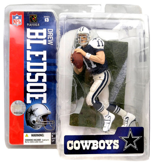 McFarlane Toys NFL Dallas Cowboys Sports Picks Series 13 Drew Bledsoe Action Figure [Blue Jersey]