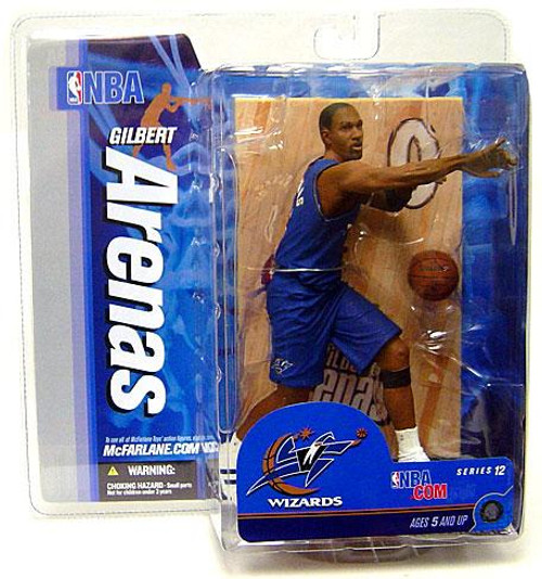 McFarlane Toys NBA Washington Wizards Sports Picks Series 12 Gilbert Arenas Action Figure [Blue Jersey, Damaged Package, Mint Contents!]