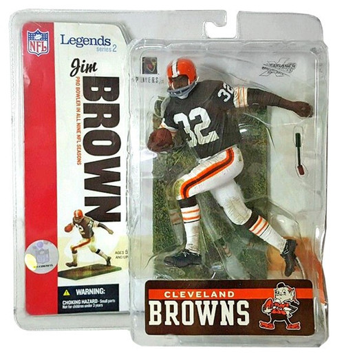 McFarlane Toys NFL Cleveland Browns Sports Picks Legends Series 2 Jim Brown Action Figure [Brown Jersey]