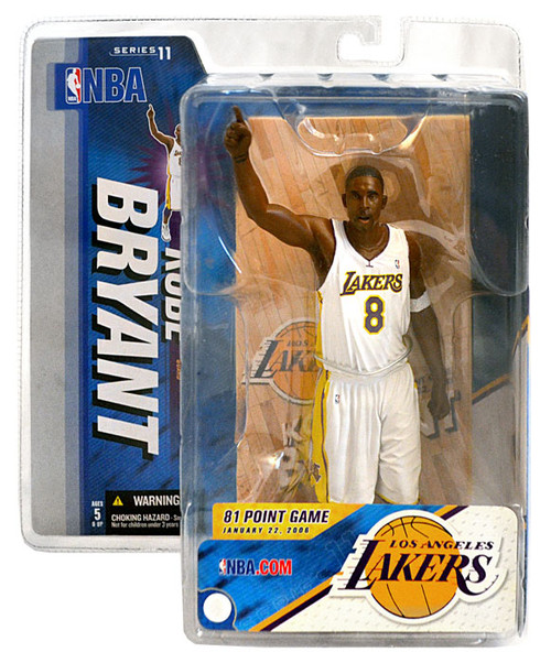 McFarlane Toys NBA Los Angeles Lakers Sports Picks Series 11 Kobe Bryant Action Figure [White Jersey]