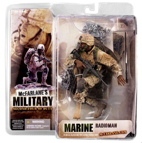 McFarlane Toys McFarlane's Military Series 2: 2nd Tour of Duty Marine Radioman Action Figure [African American]