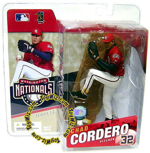 McFarlane Toys MLB Washington Nationals Sports Picks Series 15 Chad Cordero Action Figure [Red Jersey]