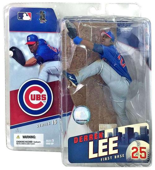 McFarlane Toys MLB Chicago Cubs Sports Picks Series 15 Derrek Lee Action Figure [Blue Jersey]
