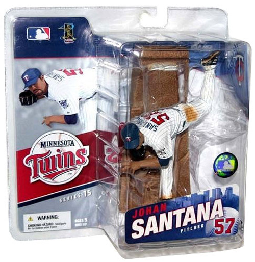 McFarlane Toys MLB Minnesota Twins Sports Picks Series 15 Johan Santana Action Figure [White Jersey]