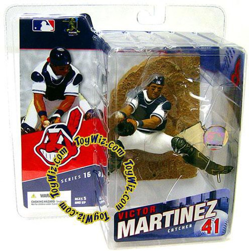 McFarlane Toys MLB Cleveland Indians Sports Picks Series 16 Victor Martinez Action Figure [White Jersey]