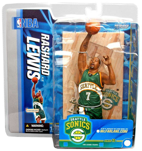 McFarlane Toys NBA Seattle Supersonics Sports Picks Series 10 Rashard Lewis Action Figure [Green Jersey]
