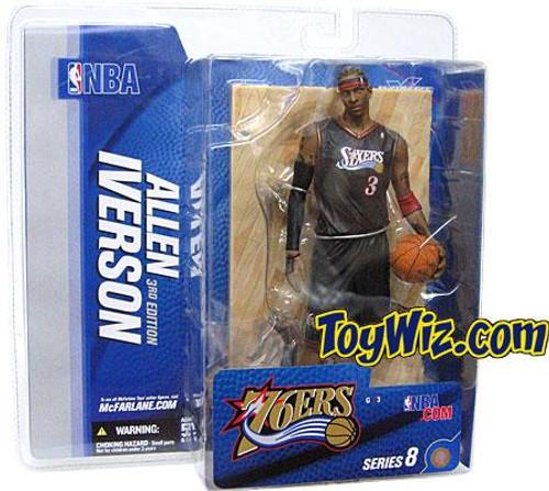 McFarlane Toys NBA Philadelphia 76ers Sports Picks Series 8 Allen Iverson Action Figure [Black Jersey Variant]