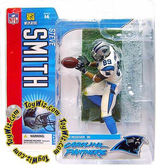 McFarlane Toys NFL Carolina Panthers Sports Picks Series 14 Steve Smith Action Figure [White Jersey]