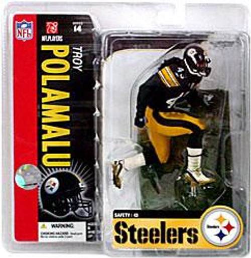 McFarlane Toys NFL Pittsburgh Steelers Sports Picks Series 14 Troy Polamalu Action Figure [Black Jersey]